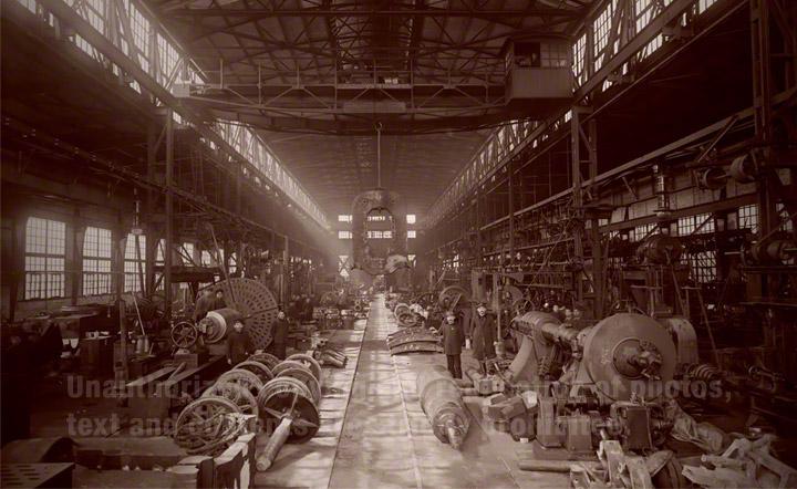 Repair Shop of the Imperial Steel Works, Japan in 1910.