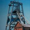 三池炭鉱専用鉄道敷から眺めた宮原坑。1898年に操業を開始し、1931年に操業を終えました。