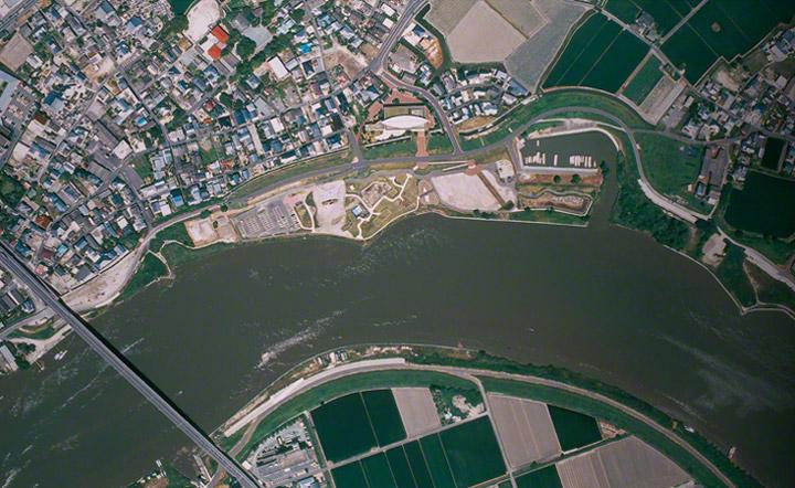 三重津海軍所跡の全景。