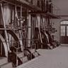 遠賀川水源地ポンプ室には、8つの蒸気機関で動く300馬力のポンプが4台設置されていました。イギリスから輸入されたもので、1950年代まで稼働していました。